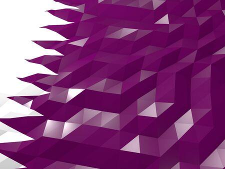 national symbol: Flag of Qatar 3D Wallpaper Illustration, National Symbol, Low Polygonal Glossy Origami Style