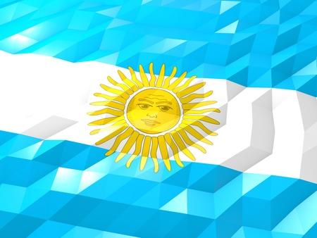 Flag Of Argentina 3d Wallpaper Illustration National Symbol
