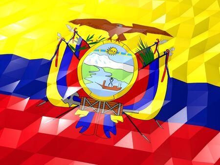 Flag Of Ecuador 3d Wallpaper Illustration National Symbol Low
