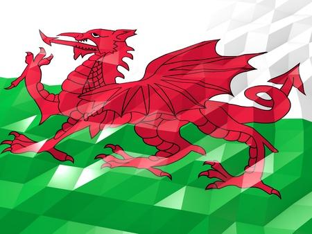 Flag Of Wales 3d Wallpaper Illustration National Symbol Low