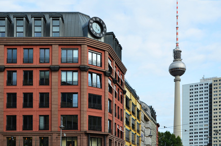 Berlin rental Appartments City Houses with TV Tower, Old and New Buildings