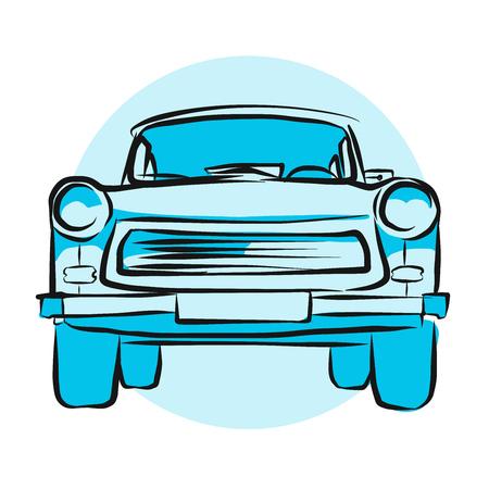DDR-Auto, Hand gezeichnet Vektor-Grafik
