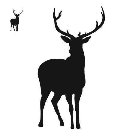 Icône du logo Deer, dessin animé dessiné à la main