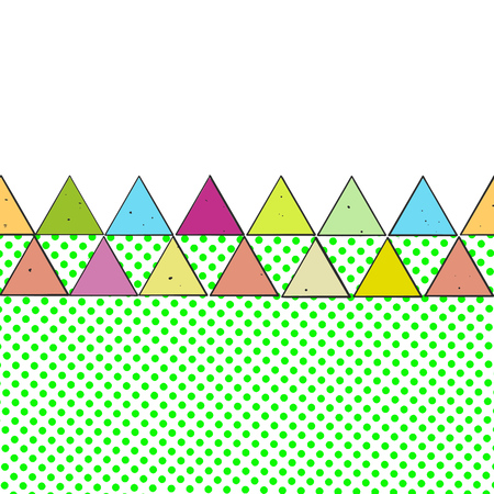 Vintage Colored Triangles, hand-drawn Vector Design for Shirt Prints and Social Media
