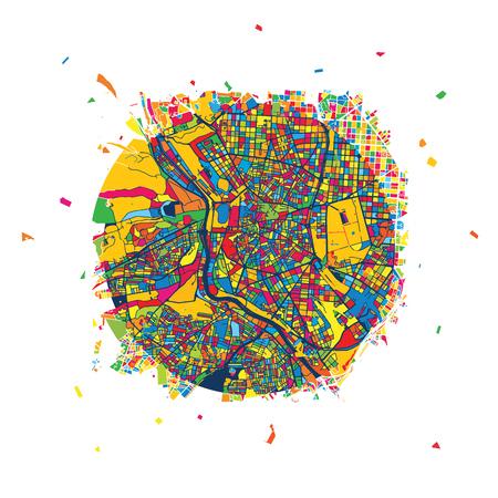 Madrid Creative Vector Map, Urban Travel Landmark. Infographic Design Template Illustration