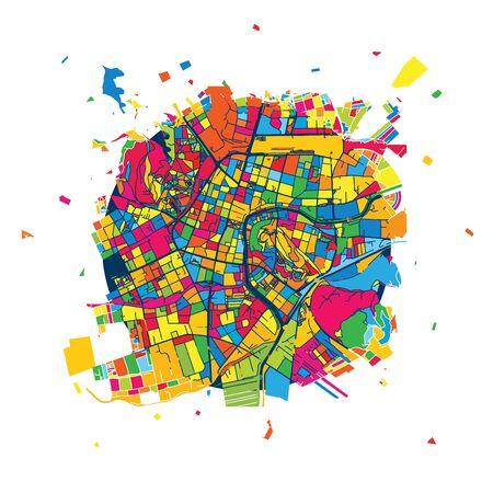 Ljubljana Creative Vector Map, Urban Travel Landmark. Infographic Design Template