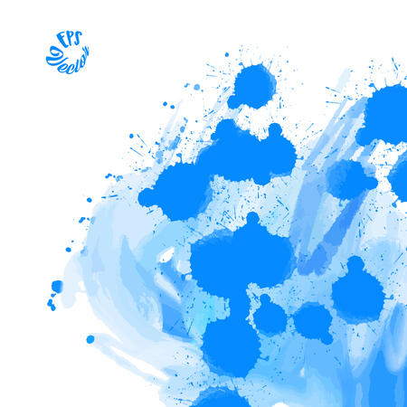 Dirty Blue Grunge Background. Stain in grunge style. Perfect for designing and decorating banners and flyers.