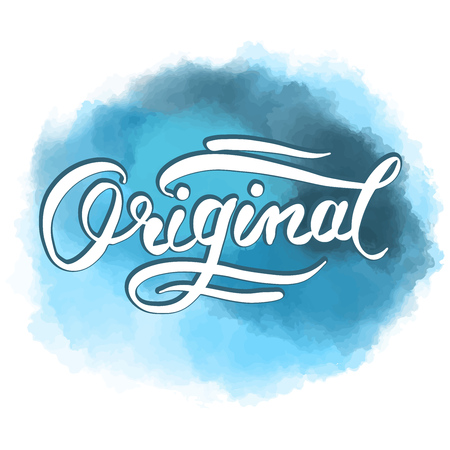 Original word hand lettering. Vector Artwork Concept. Ready for Poster Print and Greeting Card Design.