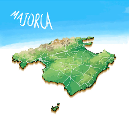 Map of majorca image illustration