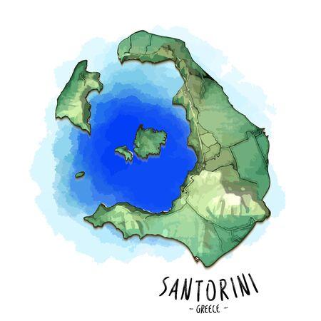 Map of santorini image illustration