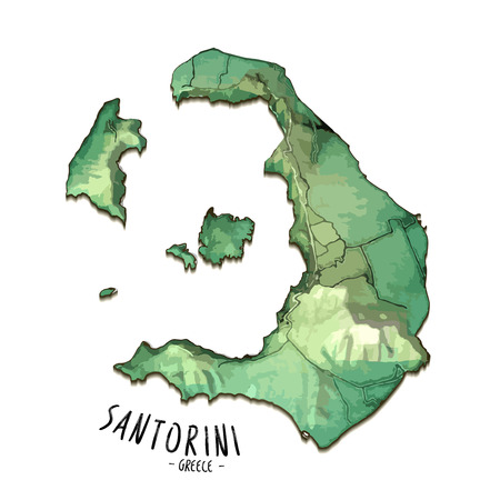 Map of santorini image illustration