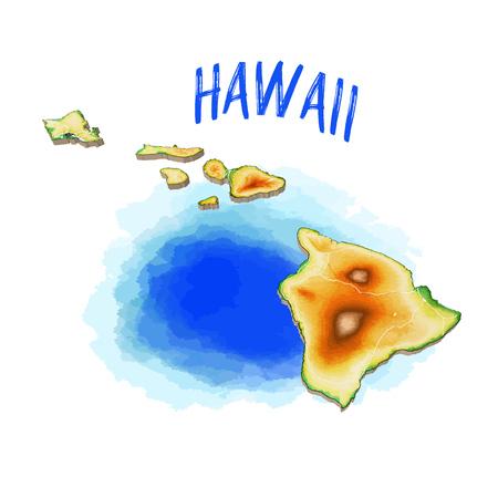 Map of hawaii image illustration 矢量图像
