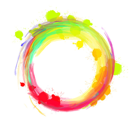 Nice colored background circle. Beautiful hand drawn vector backdrop. Usable for website, social media and print decoration.
