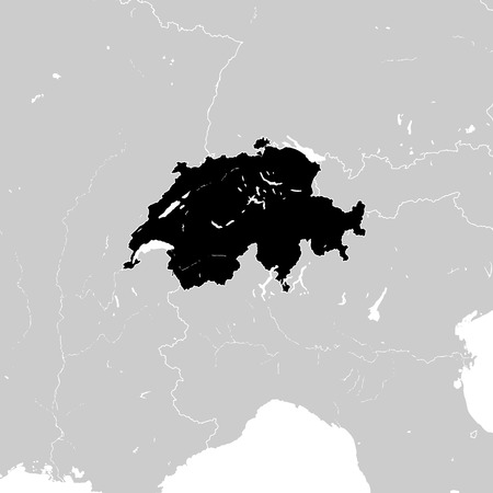 Switzerland with neighboring European countries. high detailed vector map. Illustration