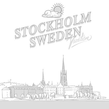 Stockholm travel marketing cover Standard-Bild - 104665115
