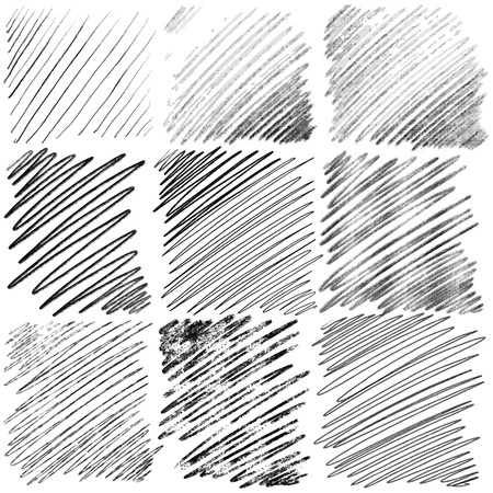 Set of diagonal hand drawn lines by pen. Vector background pattern Illustration