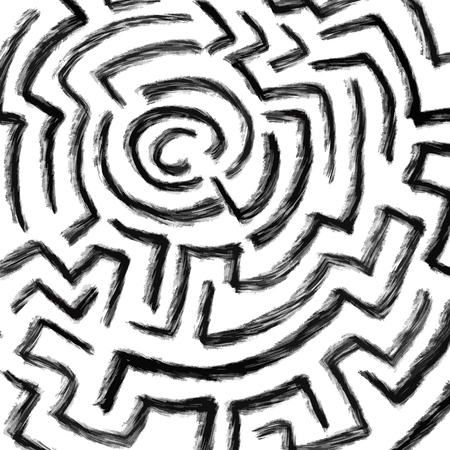 sketched maze background design, poster print vector element