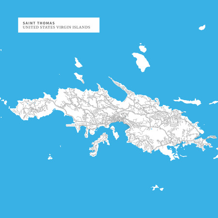 Map Of Saint Thomas Island,United States Virgin Islands, Contains ...