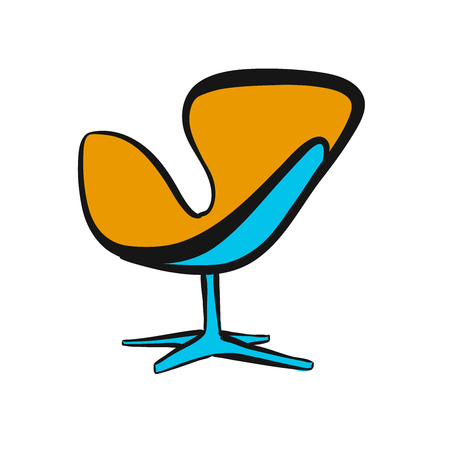 lounge chair. hand-drawn vector sketch. business concept design.