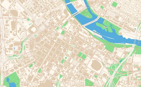 Extrait de carte imprimable de Minneapolis Minnesota. Cette carte vectorielle du centre-ville de Minneapolis est conçue pour les projets d'infographie et d'impression. Vecteurs