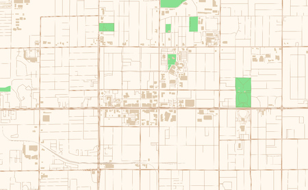 Mesa Arizona printable map excerpt. This vector streetmap of downtown Mesa is made for infographic and print projects.