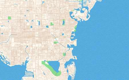 St. Petersburg Florida printable map excerpt. This vector streetmap of downtown St. Petersburg is made for infographic and print projects.