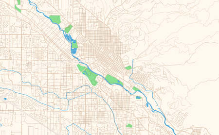 Boise Idaho printable map excerpt. This vector streetmap of downtown Boise is made for infographic and print projects.