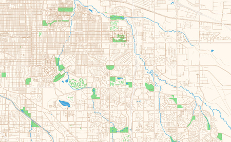 Aurora Colorado printable map excerpt. This vector streetmap of downtown Aurora is made for infographic and print projects.