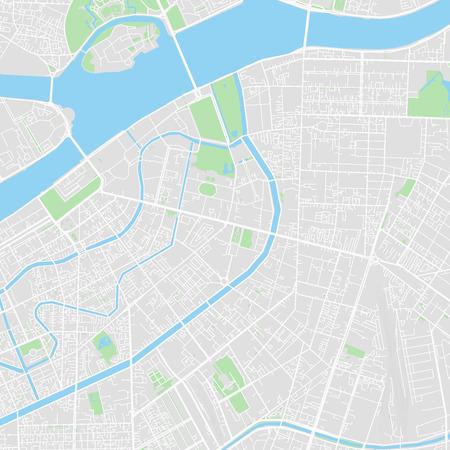 Im Stadtzentrum gelegene Vektorkarte von St. Petersburg, Russland. Diese druckbare Karte von St. Petersburg enthält Linien und klassische farbige Formen für Landmasse, Parks, Wasser, Haupt- und Nebenstraßen wie z. B. Hauptbahngleise. Vektorgrafik