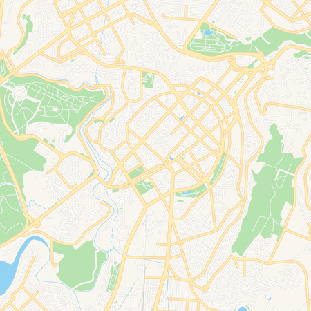 Printable map of Yerevan, Armenia with main and secondary roads and larger railways. This map is carefully designed for routing and placing individual data.