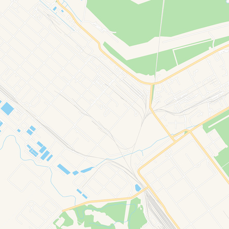 Printable map of Novopolotsk, Belarus with main and secondary roads and larger railways. This map is carefully designed for routing and placing individual data.