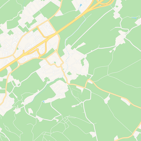 Printable map of Ansfelden, Austria with main and secondary roads and larger railways. This map is carefully designed for routing and placing individual data.