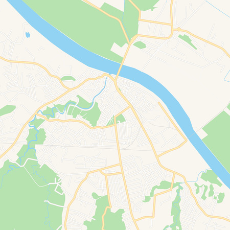 Printable map of Brcko, Bosnia and Herzegovina with main and secondary roads and larger railways. This map is carefully designed for routing and placing individual data.