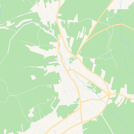 Printable map of Tomislavgrad, Bosnia and Herzegovina with main and secondary roads and larger railways. This map is carefully designed for routing and placing individual data.