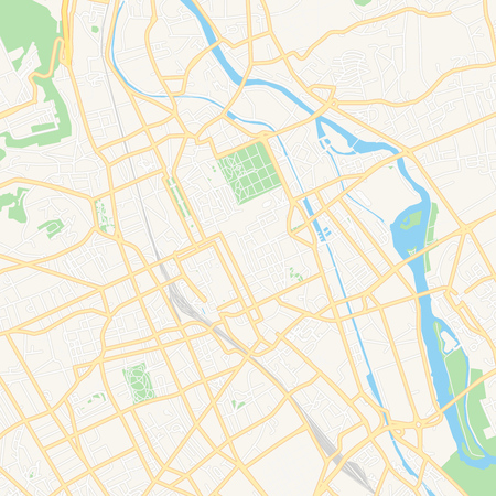 Printable map of Nancy, France with main and secondary roads and larger railways. This map is carefully designed for routing and placing individual data.