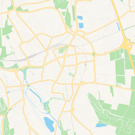 Printable map of Hildesheim, Germany with main and secondary roads and larger railways. This map is carefully designed for routing and placing individual data. Illusztráció