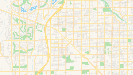 Empty vector map of Peoria, Arizona, USA, printable road map created in classic web colors for infographic backgrounds.