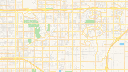 Empty vector map of Rancho Cucamonga, California, USA, printable road map created in classic web colors for infographic backgrounds. Ilustração
