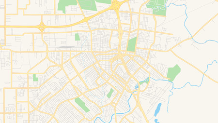 Empty vector map of Lafayette, Louisiana, USA, printable road map created in classic web colors for infographic backgrounds. Illusztráció
