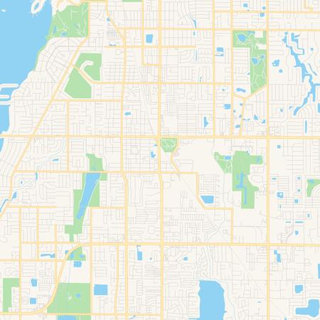 Florida Map Printable.Empty Vector Map Of Largo Florida Usa Printable Road Map Created