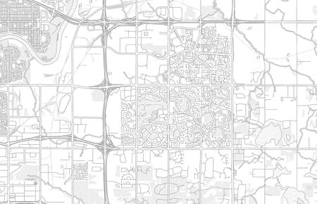 Strathcona County, Alberta, Canada, bright outlined vector map with bigger and minor roads and steets created for infographic backgrounds.