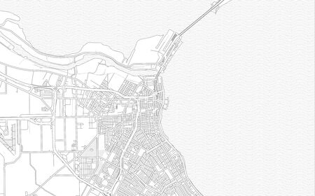 Corpus Christi, Texas, USA, bright outlined vector map with bigger and minor roads and steets created for infographic backgrounds.