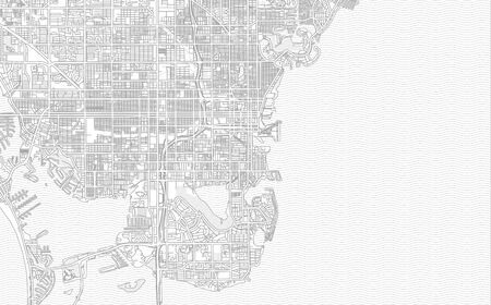 St. Petersburg, Florida, USA, bright outlined vector map with bigger and minor roads and steets created for infographic backgrounds.