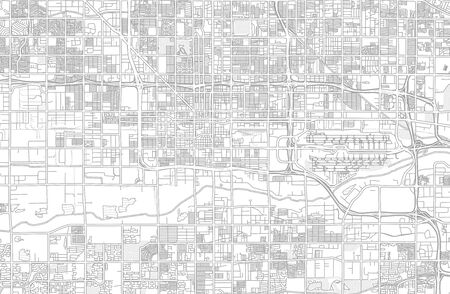 Phoenix, Arizona, USA, bright outlined vector map with bigger and minor roads and steets created for infographic backgrounds.