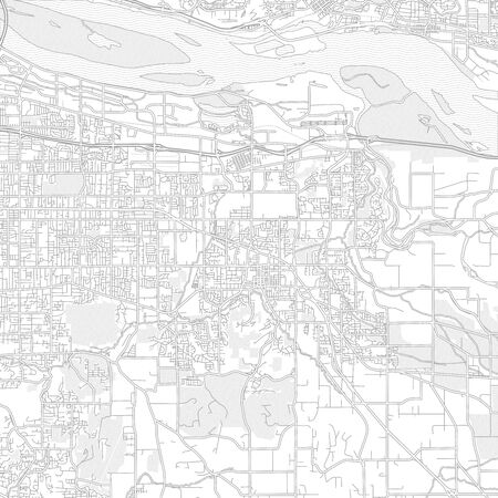 Gresham, Oregon, USA, bright outlined vector map with bigger and minor roads and steets created for infographic backgrounds. Фото со стока - 128308075