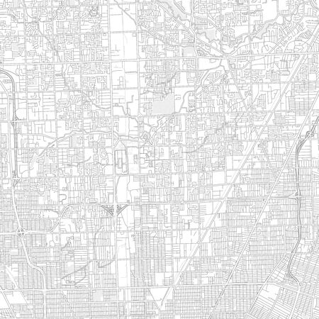Warren, Michigan, USA, bright outlined vector map with bigger and minor roads and steets created for infographic backgrounds.