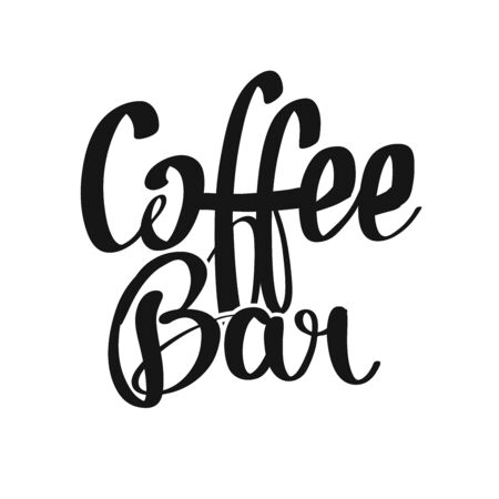 Coffee Bar handwritten lettering. Printable Poster art sign for Menu and Bar topics.