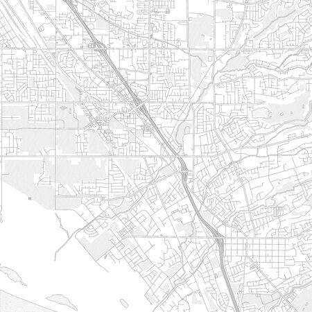 Layton, Utah, USA, bright outlined vector map with bigger and minor roads and steets created for infographic backgrounds.