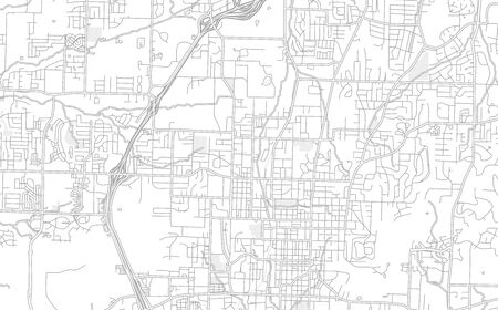 Fayetteville, Arkansas, USA, bright outlined vector map with bigger and minor roads and steets created for infographic backgrounds. Illusztráció