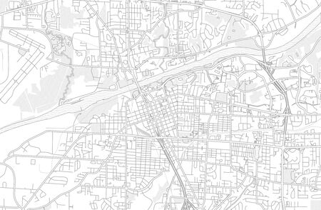 Tuscaloosa, Alabama, USA, bright outlined vector map with bigger and minor roads and steets created for infographic backgrounds.